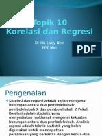 Topik 10 Korelasi Dan Regresi