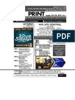 JULY 26 2015 NEWSLETTER and AUGUST CALENDAR 2015