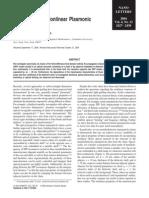 JP_Subwavelength Nonlinear Plasmonic Nanowire
