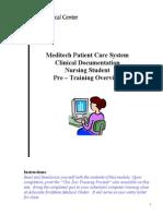 2011 Nursing Student Clinical Documentation Training Manual