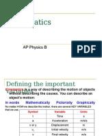AP Physics B - Kinematics