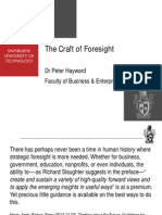 The Craft of Foresight