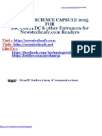 GENERAL SCIENCE CAPSULE 2015  FOR  SSC CGL/LDC & other Entrances for Newstechcafe.com Readers