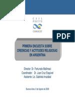 1º Encuesta Sobre Creencias y Actitudes Religiosas en Argentina