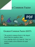 Greatest Common Factor