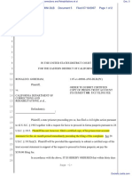 (PC) Goreham v. California Department of Corrections and Rehabilitations et al - Document No. 5