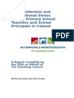 Teacher Satisfaction and Stress