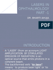 Lasers in Ophthalmology Part -1