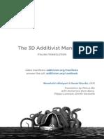 Traduzione Italiana del 3D Additivist Manifesto