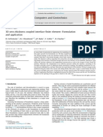 3D Zero-thickness Coupled Interface Finite Element Formulation and Application