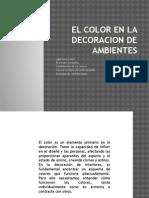 El Color en La Decoracion de Ambientes