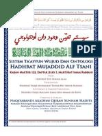 Sistem Ta'ayyun Wujud Dan Ontologi Hadhrat Mujaddid Alf Tsani