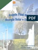 Projeto final de Energia Solar e Eólica