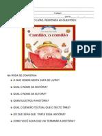 Atividades Referente Ao Livro Camilão, o Comilão (1)