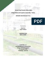 Informe Final Prueba Hidrostatica