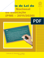 Projeto de Lei Do Plano Nacional de Educao Pne 2011 2020