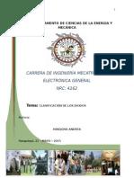 diodos clasificacion