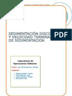 Sedimentación discontinua- informe de lab
