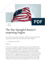 BBC - Culture - The Star-Spangled Banner's Surprising Origins