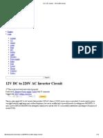 DC to AC Inverter - 12V to 220V Inverter
