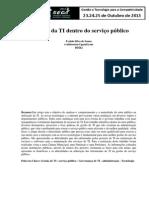 A Gestao de TI Dentro Do Serviço Publico