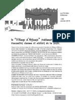Le P'tit Mot d'Alphonse - Le Village d'Alfonse redémarre - Janvier 2010