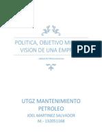 Politica Objetivomision y Vision