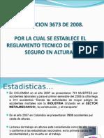 Presentacion - Res. 3673 Reglamento Trabajo Seg. en Altura