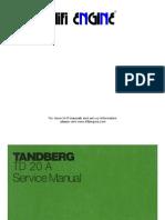 Tandberg Td 20a Service Manual