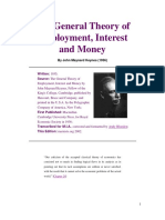 The General Theory of Employment, Interest and Money, By John Maynard Keynes (1936)