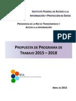 Programa de Trabajo de La RTA 2015-2018