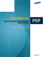 Me32b Me40b Me46b Me55b Ue46a Ue55a User Manual