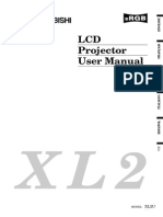 LCD Projector Mitsubishi Operations Manual_sl-xl2