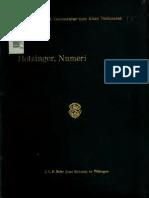 Heinrich Holzinger, Numeri. KHC 4. Tübingen and Leipzig