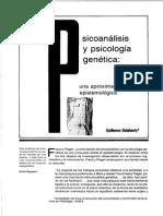 Psicoanálisis y Psicología Genética. Una Aproximación Epistemológica