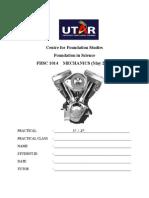 Prac. Report Cover Sheet
