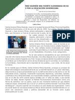 CARLOS ANTONIO PÉREZ GUZMÁN UNA FUENTE ILUMINARIA EN SU TRAYECTO POR LA EDUCACIÓN DOMINICANA