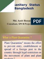 Presentation on Phytosanitary Status of Bangladesh