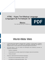 HTML - Hyper Text Markup Language (Linguagem