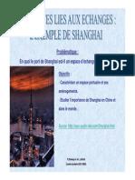 Espaces Liés Aux Échanges Le Port de Shanghai Site