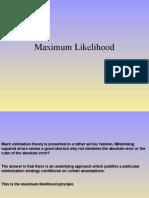 Lecture 1 Maximum Likelihood
