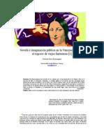 Novela e Imaginación Pública en La Venezuela Actual