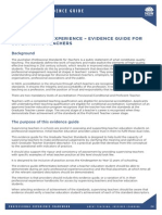 document 4 - evidence guide for supervising teachers report helper
