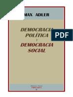 Max Adler Democracia Politica y Democracia Social