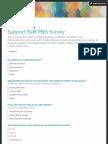 support staff pbis survey