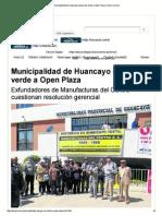 Municipalidad de Huancay...n Plaza _ Diario Correo