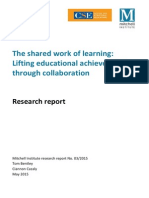 the shared work of learning lifting educational achievement through collaboration