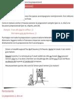 Les Prépositions (Le Preposizioni) – Grammatica Francese(Crop)