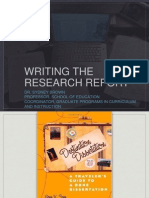 writing the research report brown