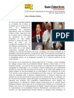 Por Niko Schvarz Histórica Decisión de Cuba y Estados Unidos